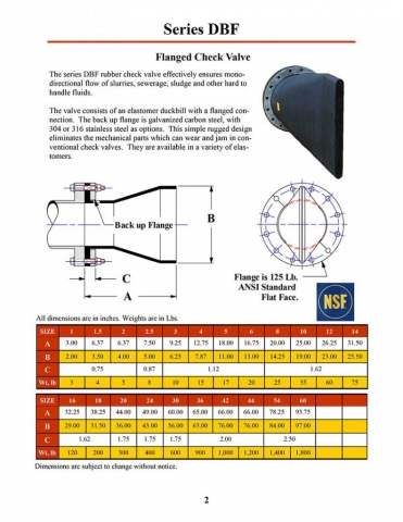 DBF Series Flanged Check Valve